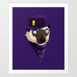 Lemur RapStyle Art Print