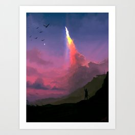 Leaving our Heaven Art Print
