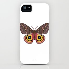 io moth (Automeris io) female specimen 2 iPhone Case