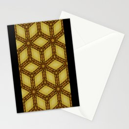 Running Wicker Cubes Stationery Cards