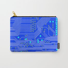 Blue Circuit Board  Carry-All Pouch