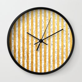 Marble and Gold Stripes Pattern Wall Clock