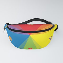 Color wheel by Dennis Weber / Shreddy Studio with special clock version Fanny Pack