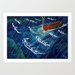 First Judgement (Noah's Ark)  Art Print