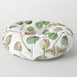 Silver Dollar Eucalyptus – Green Palette Floor Pillow