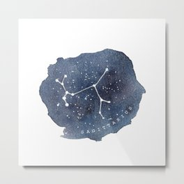 sagittarius constellation zodiac Metal Print