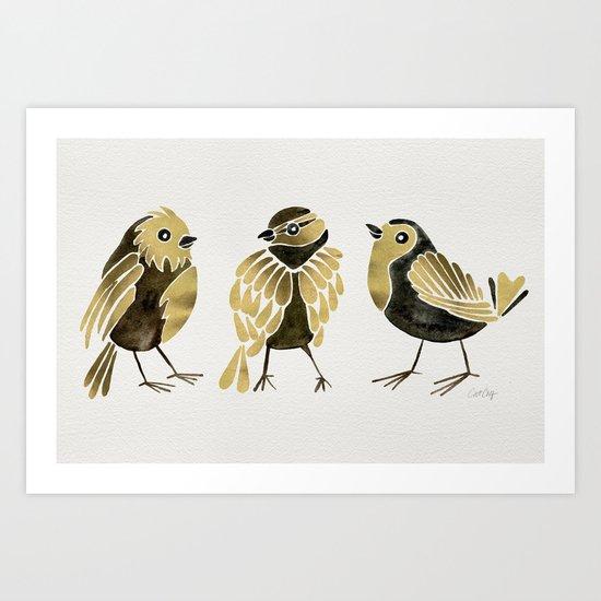 24-Karat Goldfinches Art Print