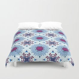 blue and red pattern Duvet Cover