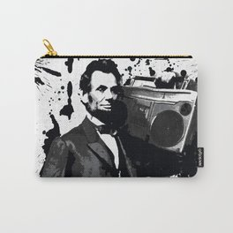 ABRAHAM LINCOLN INK SPLASH MAKE MUSIC NOT WAR Carry-All Pouch