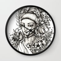 fairy Wall Clocks featuring Fairy by Anca Chelaru
