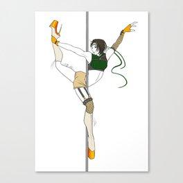 FFVII Pole Series: Yuffie Kisaragi Canvas Print