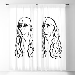 American Cocker Spaniel (Black and White) Blackout Curtain