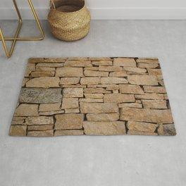Brown brick Rug