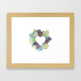 HEART HEART Framed Art Print