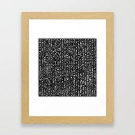 Hieroglyphics B&W INVERTED / Ancient Egyptian hieroglyphics pattern Framed Art Print