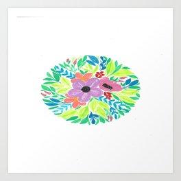 Floral in Pastel colors Art Print