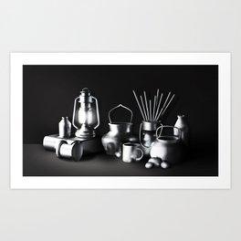 Chromed metal Art Print