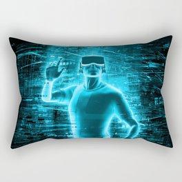 Virtual Reality User Rectangular Pillow