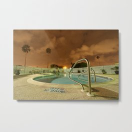 Night Poolside Metal Print
