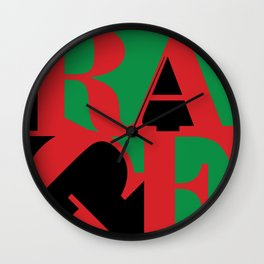 Renegades Black & Green Wall Clock