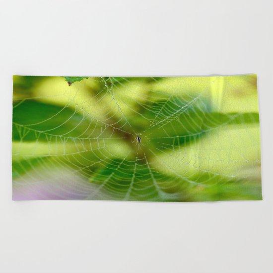 Beautiful Cobweb Beach Towel