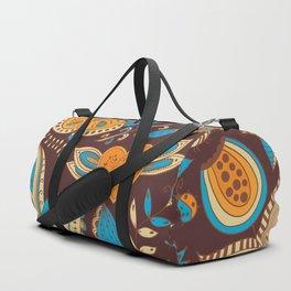 Floral Khokhloma pattern Duffle Bag