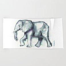 Elephant Watercolor Sketch 2 Beach Towel