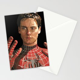 toby maguire Stationery Cards