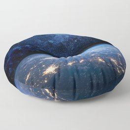 Earth and Galaxy Floor Pillow