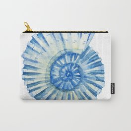 Blue Sea Snail Carry-All Pouch