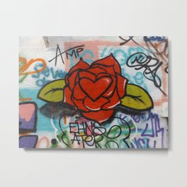 rose/heart graffitti Metal Print