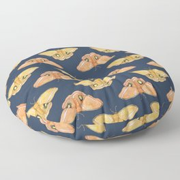 Luna Moth Yellow Navy Floor Pillow