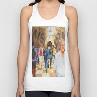 moscow Tank Tops featuring Moscow Metro by Eli Gross Art