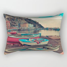 Boats of Sorrento Rectangular Pillow