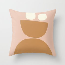 Nordic abstract art in warm tones Throw Pillow
