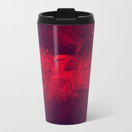 Red And Black Abstract Gothic Glam Chic Travel Mug