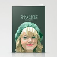 emma stone Stationery Cards featuring Emma Stone by You Xiang