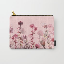 For Her ! Pink Flowers Carry-All Pouch