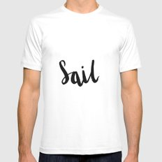 Sail White MEDIUM Mens Fitted Tee