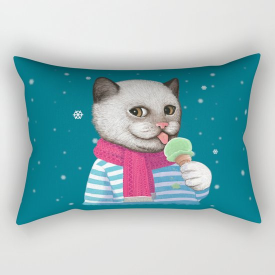 Ice cream & Snow Rectangular Pillow