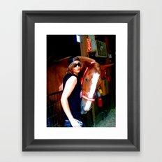 The Horse And I Framed Art Print