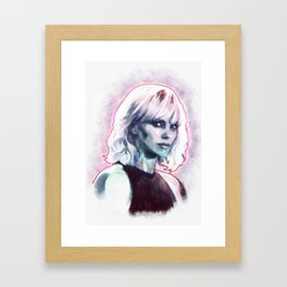 Atomic blonde Framed Art Print