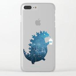 Godzillatte Clear iPhone Case