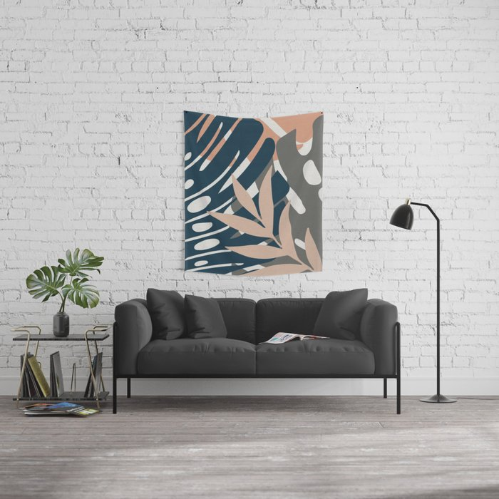 Monstera Details Wall Tapestry