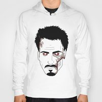 robert downey jr Hoodies featuring Zombie Robert Downey Jr. by Roman Jones