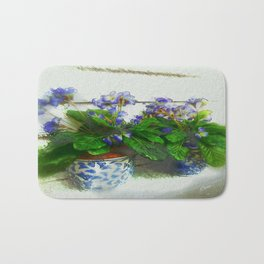 """Soothing Violets"" Bath Mat"