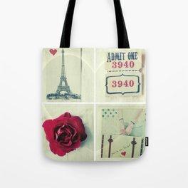 Paris Collage Tote Bag