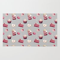 macaroon Area & Throw Rugs featuring Everything Red Velvet by Pink Geeks