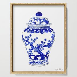 Blue and White China Ginger Jar 10 Serving Tray