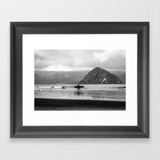 Morro Surfer Framed Art Print